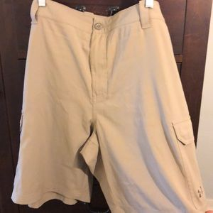 Under Armour Khaki Fish Hunter Cargo shorts